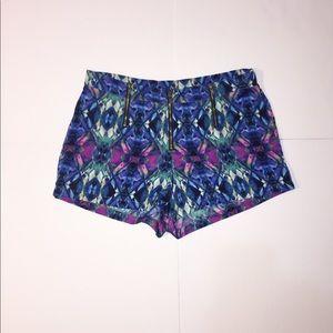 Mimi Chica Triple Zip Shorts Mini Flat Lay